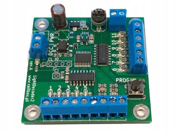 Dekoder DCC sterownik dwóch semaforów świetlnych