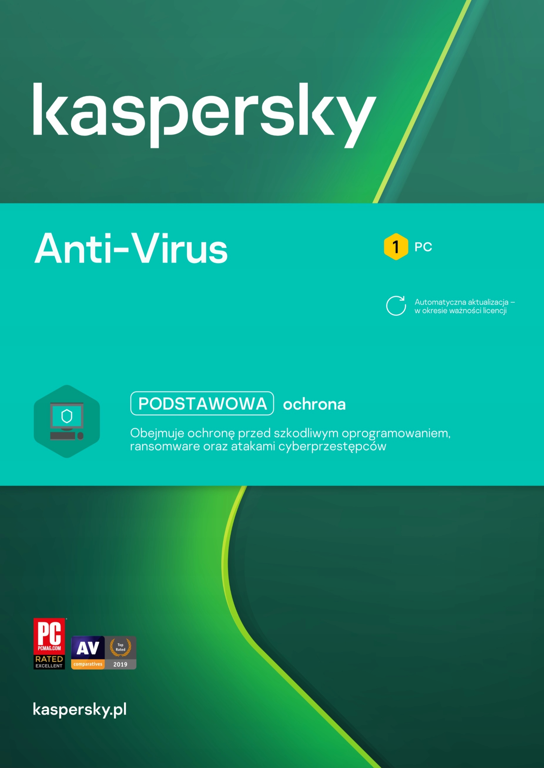 Acronis True Image 2021 1PC + Kaspersky Antivirus Okres licencji inny