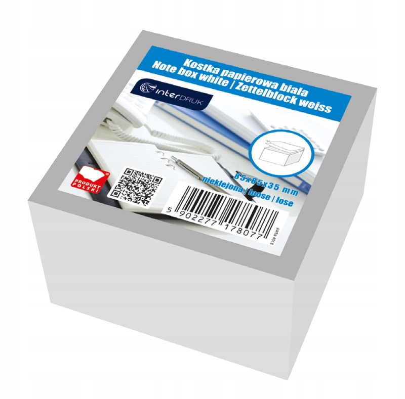 Bloczek Karteczki Papierowe Do Notowania Biale 7238506099 Allegro Pl