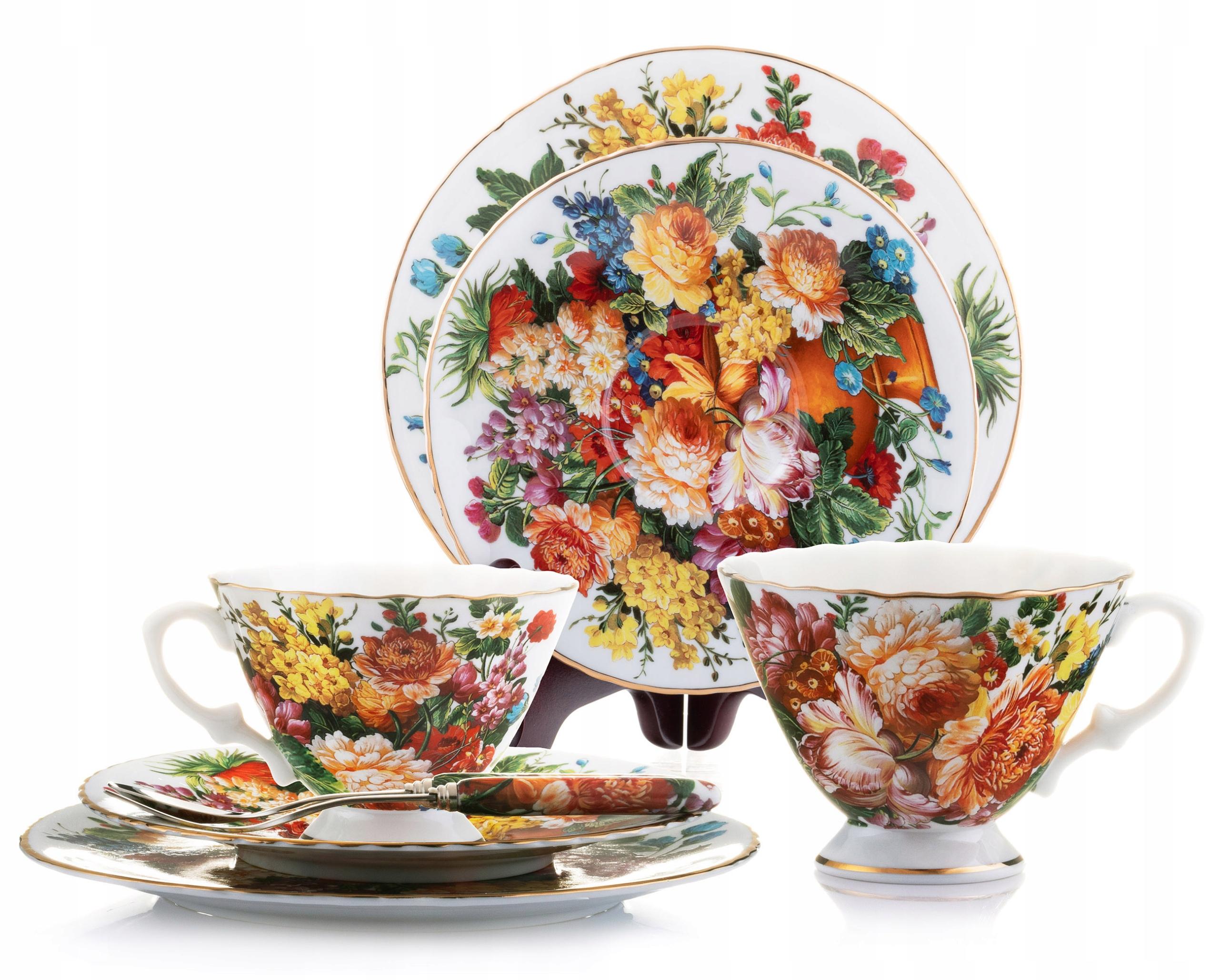 Купить Кофейный сервиз Букет полевых цветов на 2 персоны на Otpravka - цены и фото - доставка из Польши и стран Европы в Украину.