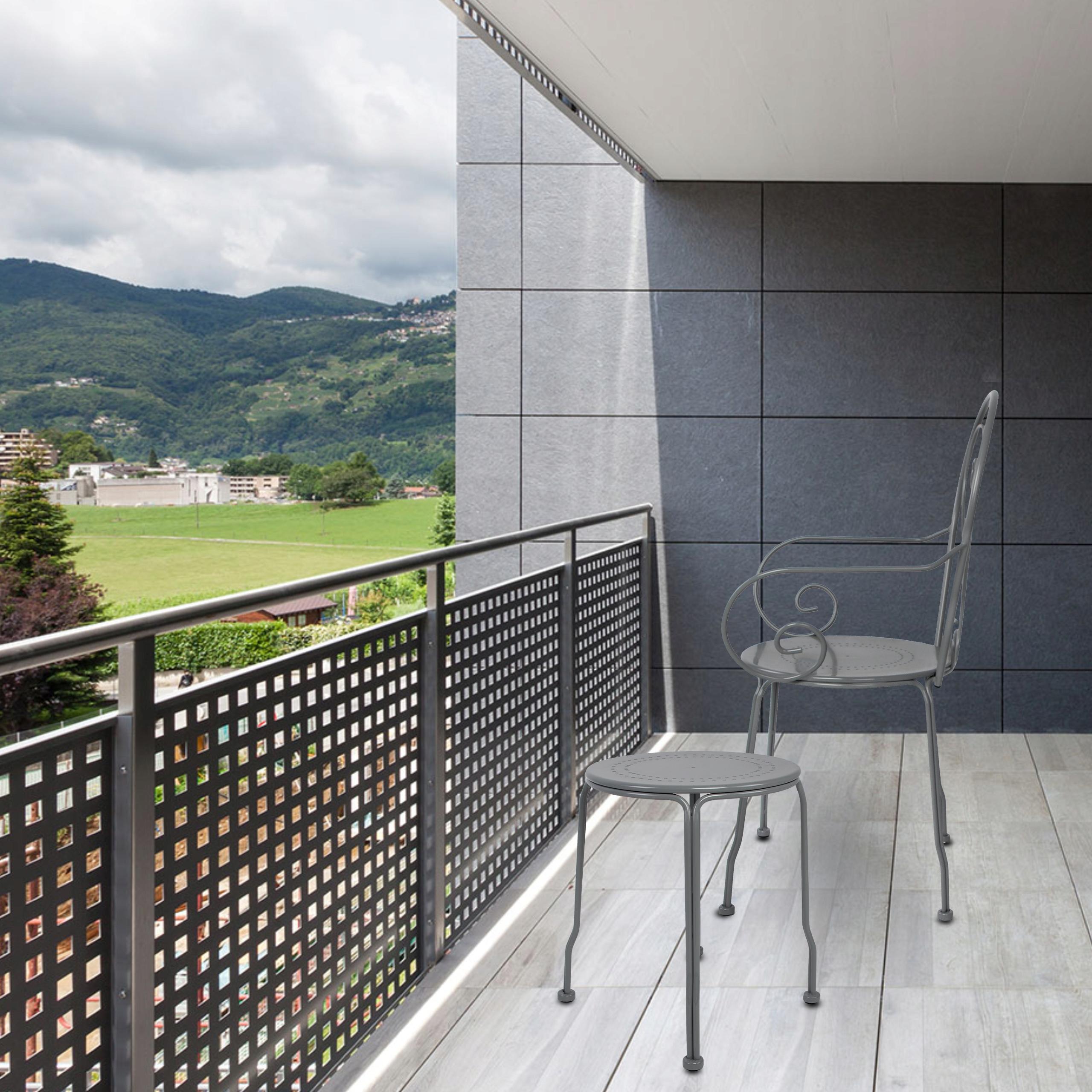 Sada kovového záhradného nábytku PATIO Balkónová terasa Tradičný štýl