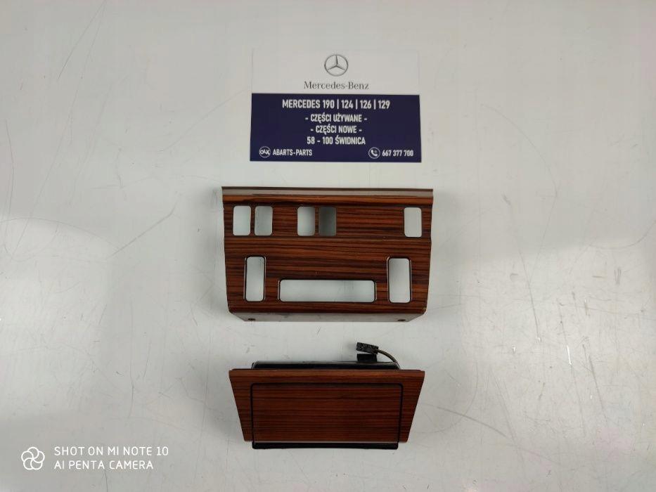 mercedes 124 купе - панель декор деревянный