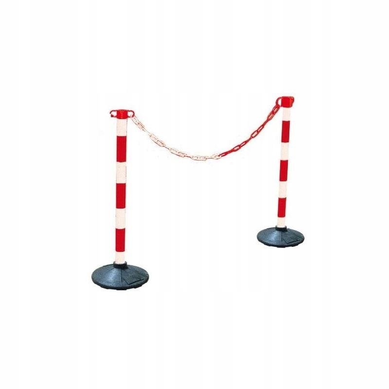 Bariérová bariéra plastového reťazca + základňa