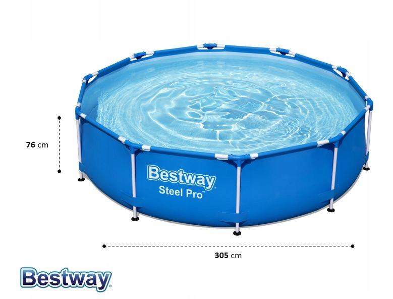 Záhradný bazén Bestway Frame 305x76 56677 6v1 dĺžka 305 cm