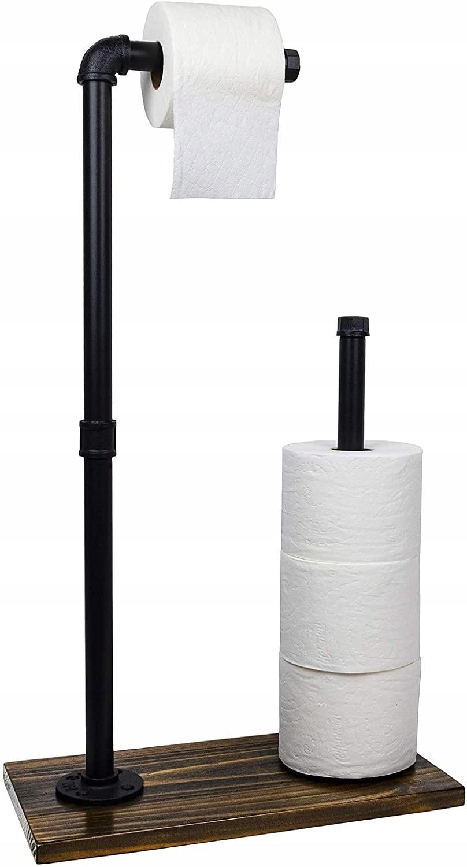 Stojan Čierny podkrovný držiak na toaletný papier