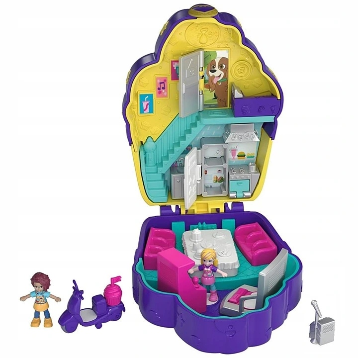 POLLY POCKET DOLL HOUSE V SHELL MATTEL FRY36