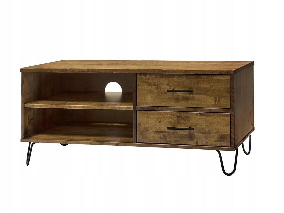 Podkrovná komoda 2201 rtv pod retro drevenou TV