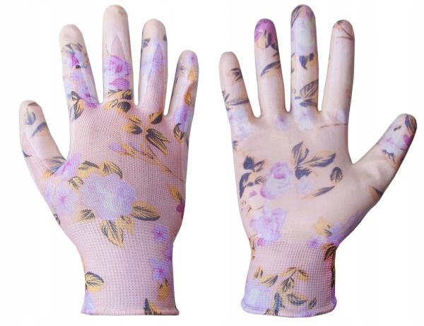 Перчатки защитные BRADAS Нитриловые цветы Размер. 6