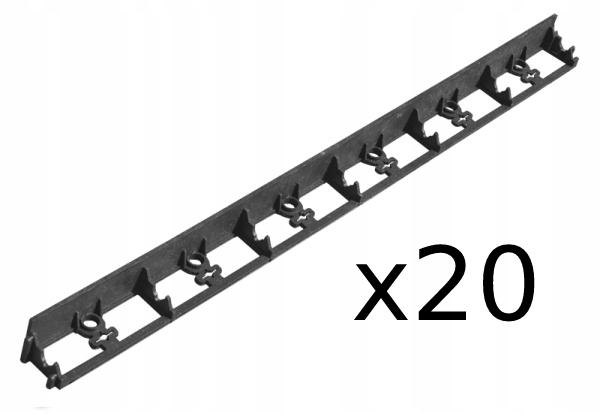 Obrzeże ogrodowe 45mm 20m + KOTWY 60szt Producent Bradas