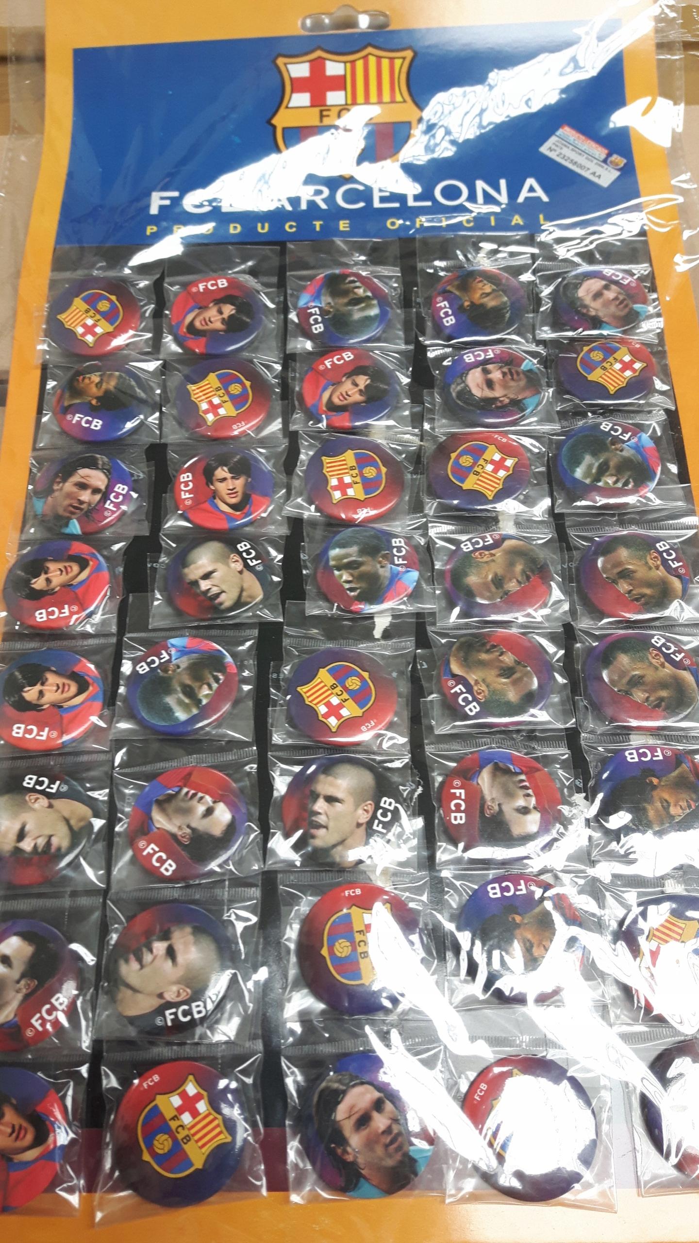 Купить FC BARCELONA - ZESTAW 150 PRZYPINEK на Otpravka - цены и фото - доставка из Польши и стран Европы в Украину.