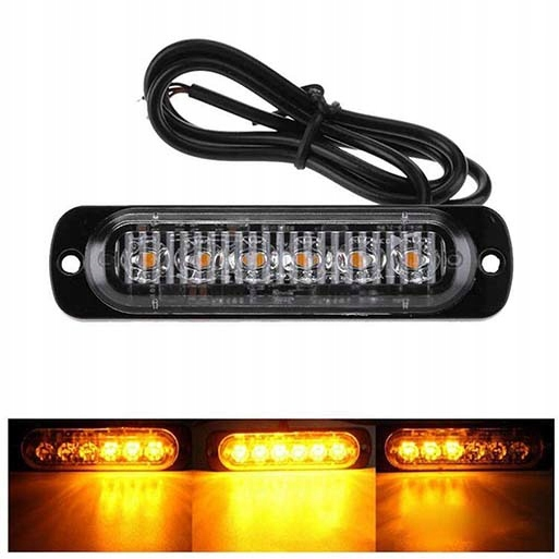 Лампа 6 LED Попередження...