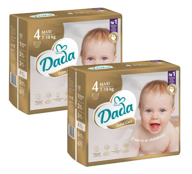 PAMPERSY DADA EXTRA CARE 4 2x 82 MAXI 164 ЧАСТИ