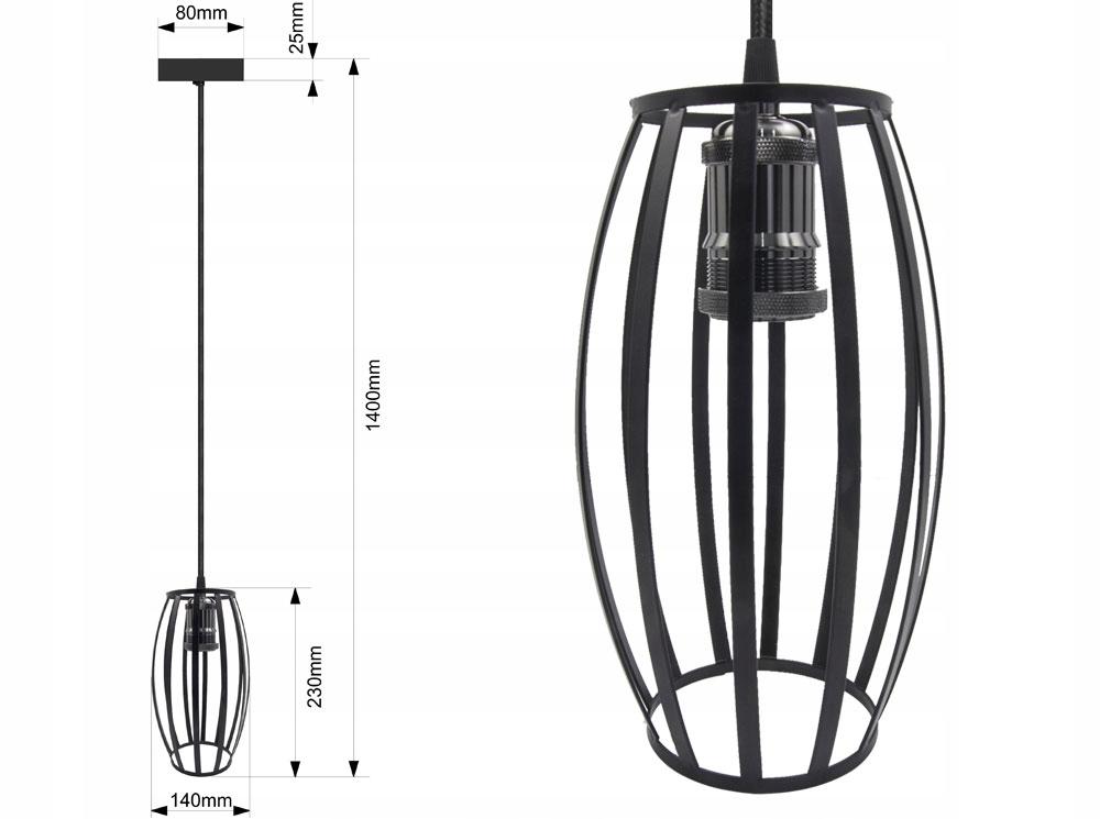 LAMPA SUFITOWA WISZĄCA LARGO ŻYRADNOL LED LOFT BC1 Rodzaj lampy Sufitowe - wiszące