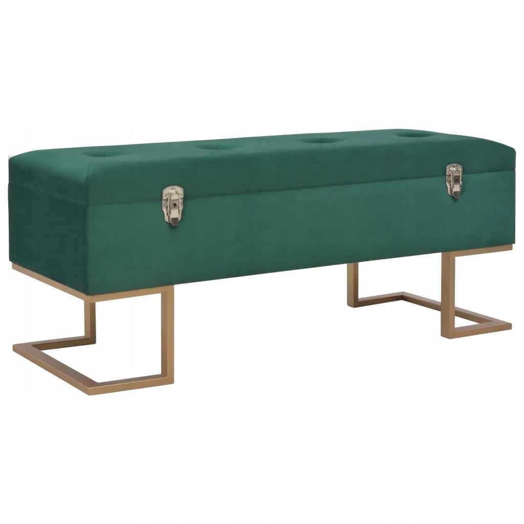 Bench 105 Cm Zelenej Zamatovej