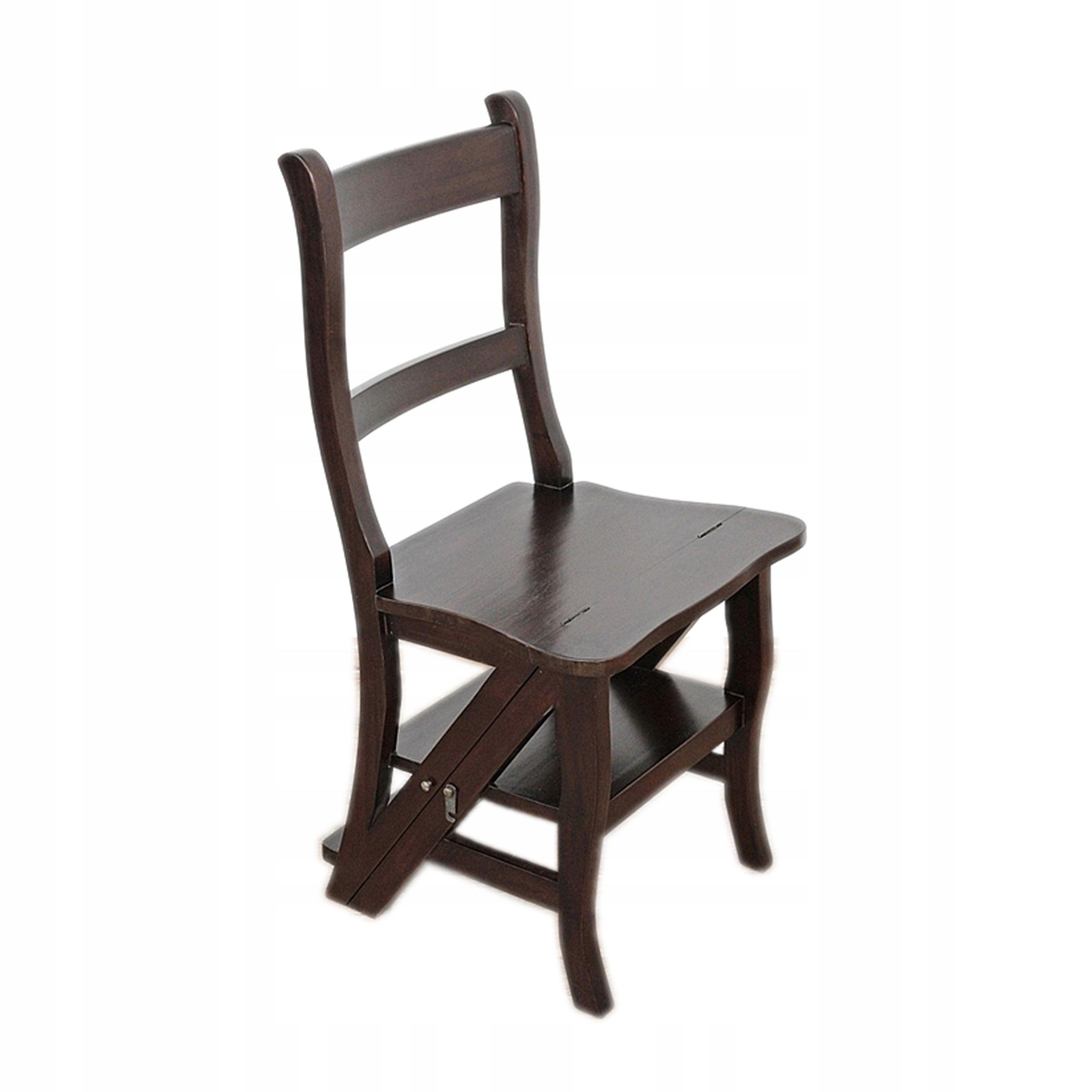 Piękne Stylowe Krzesło Drabinka z Mahoniu