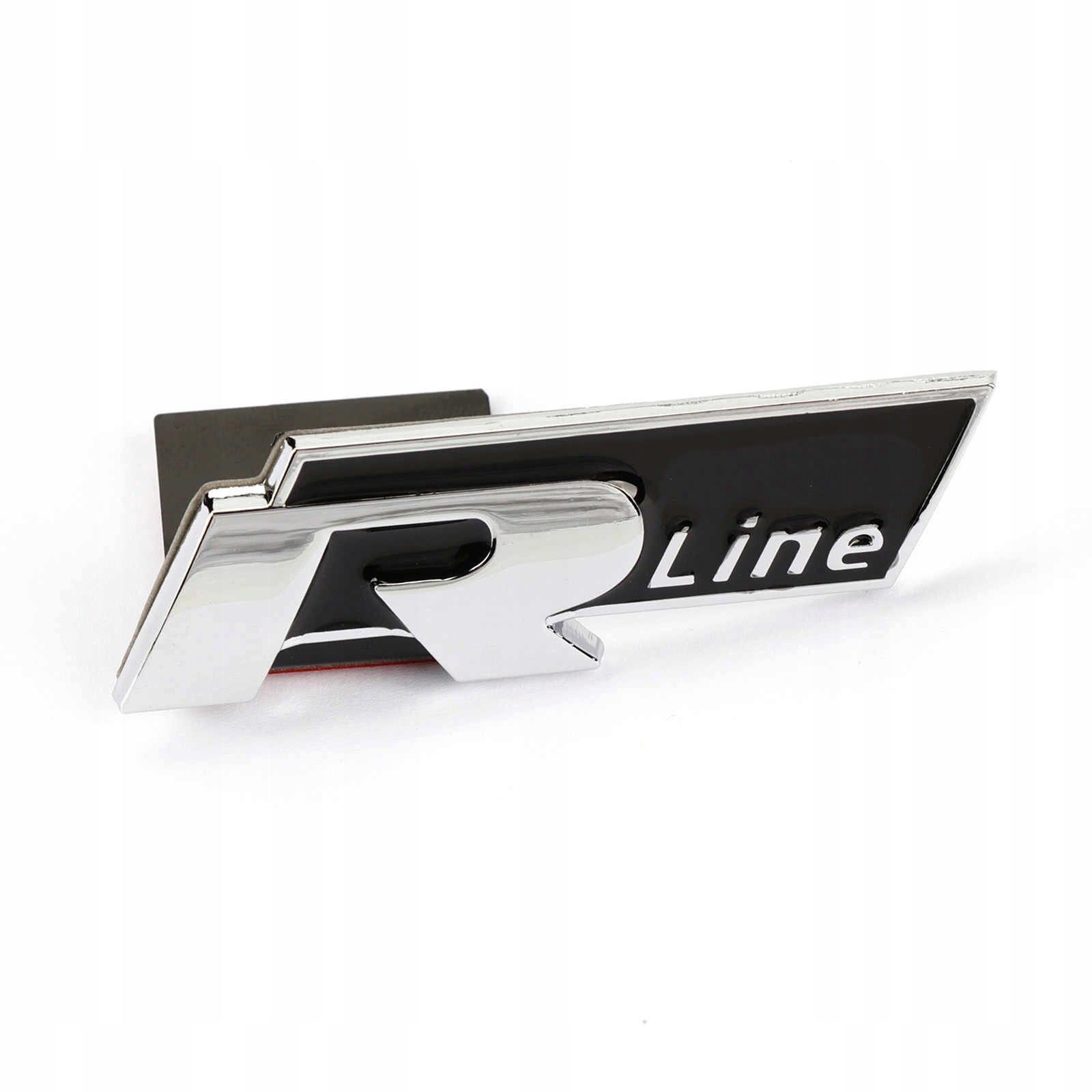 C07 ЗНАЧОК ЭМБЛЕМА VW RLINE R LINE W GRILL ATRAP