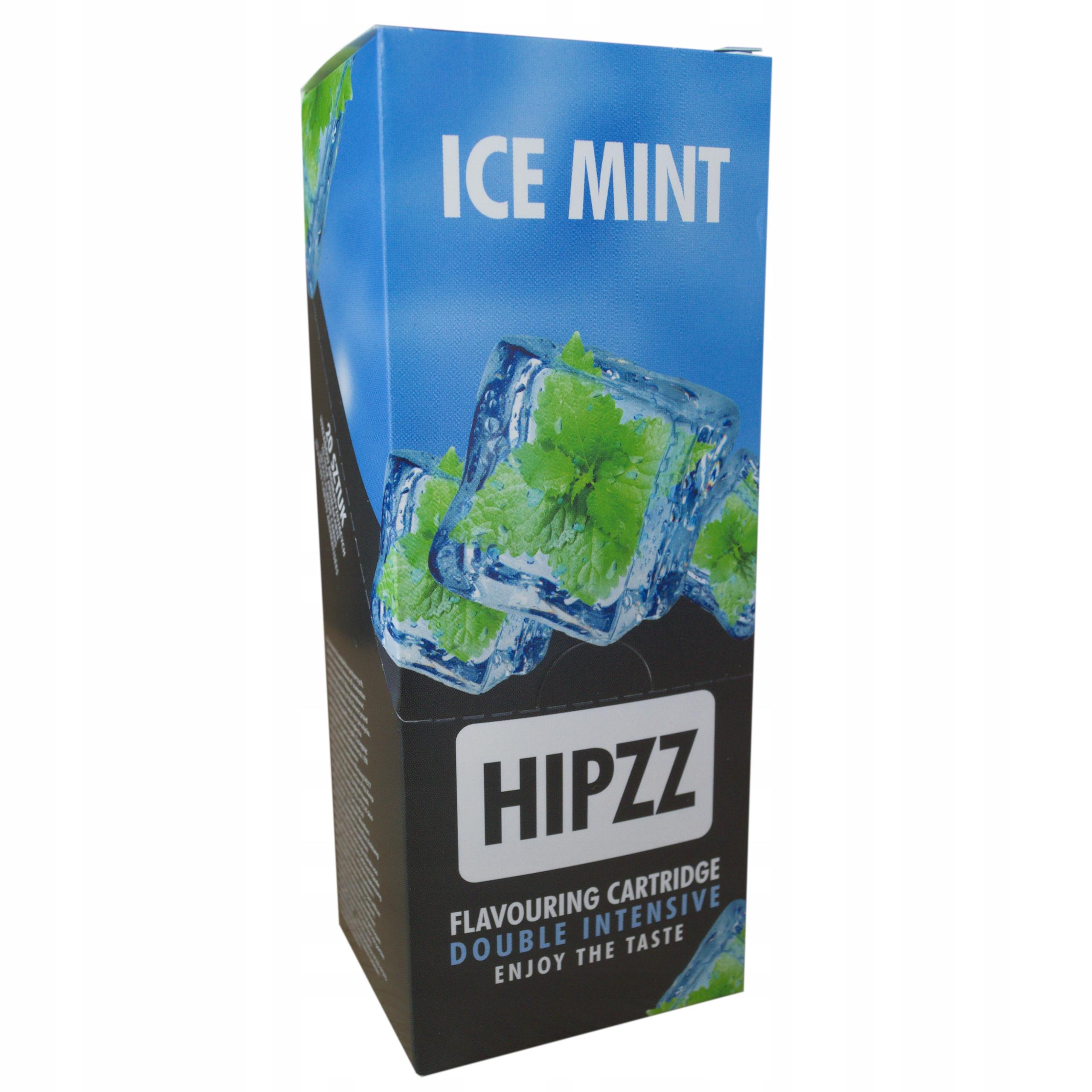 KARTA AROMATYZUJąCA PAPIEROS HIPZZ ICE MINT 10 SZT