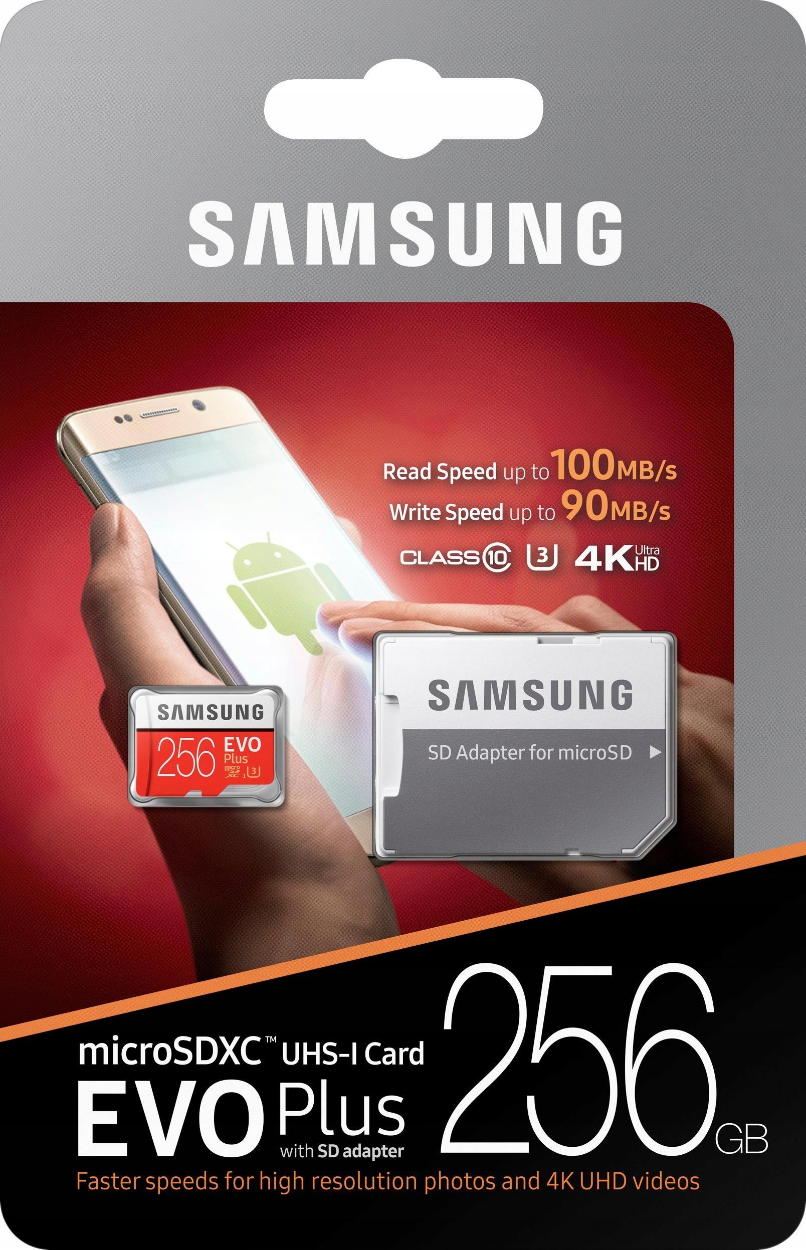 Item SAMSUNG MEMORY CARD MICRO SD XC EVO+ U3 256GB