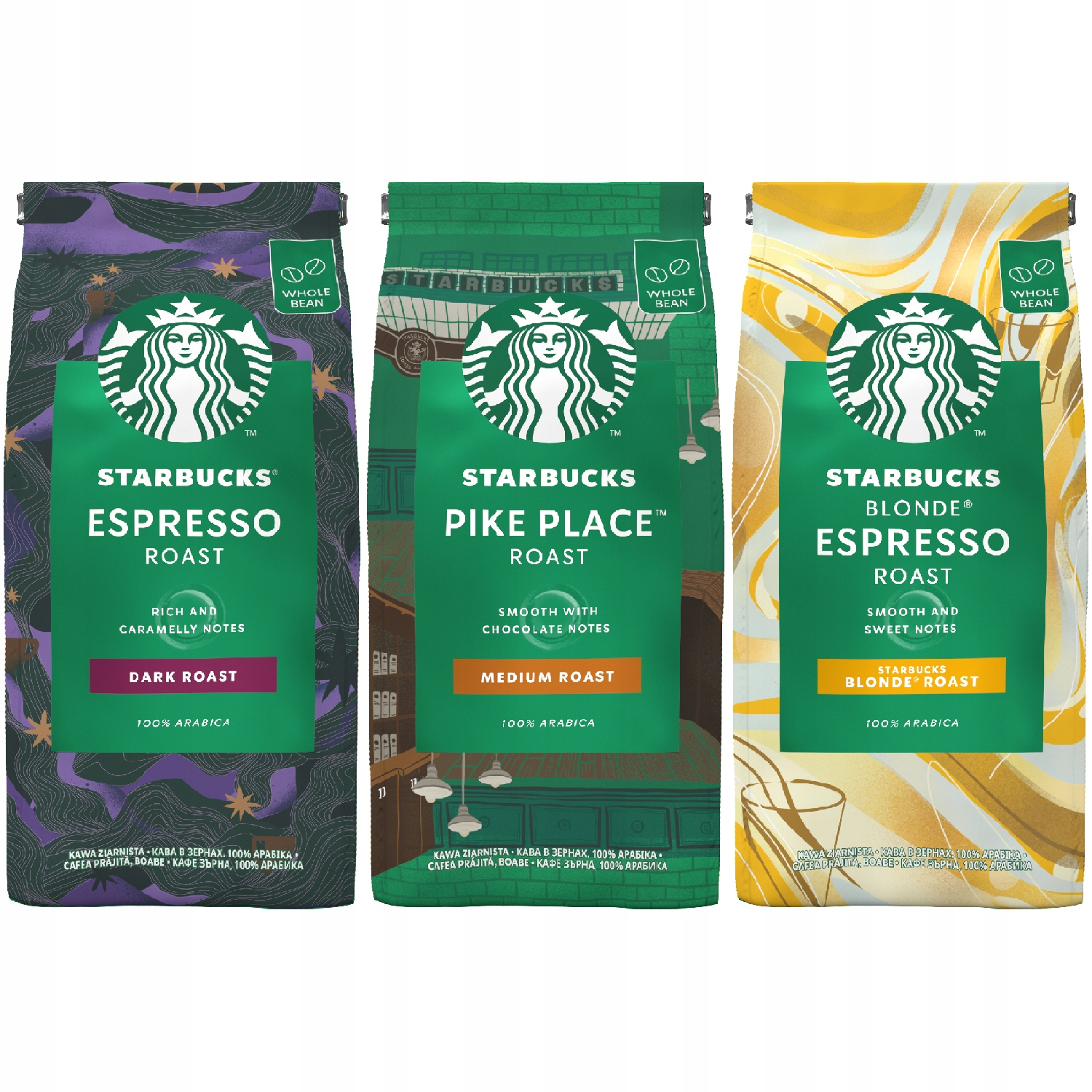 Starbucks Kawa ziarnista Arabica MIX zestaw 3x200g