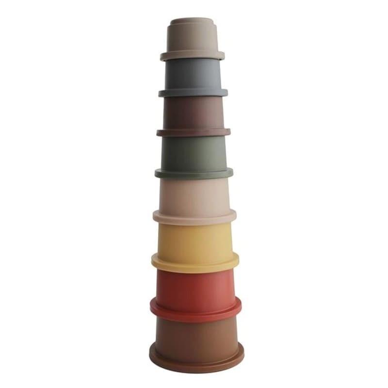 Mushie Stohovacia veža RETRO - veža z pohárov