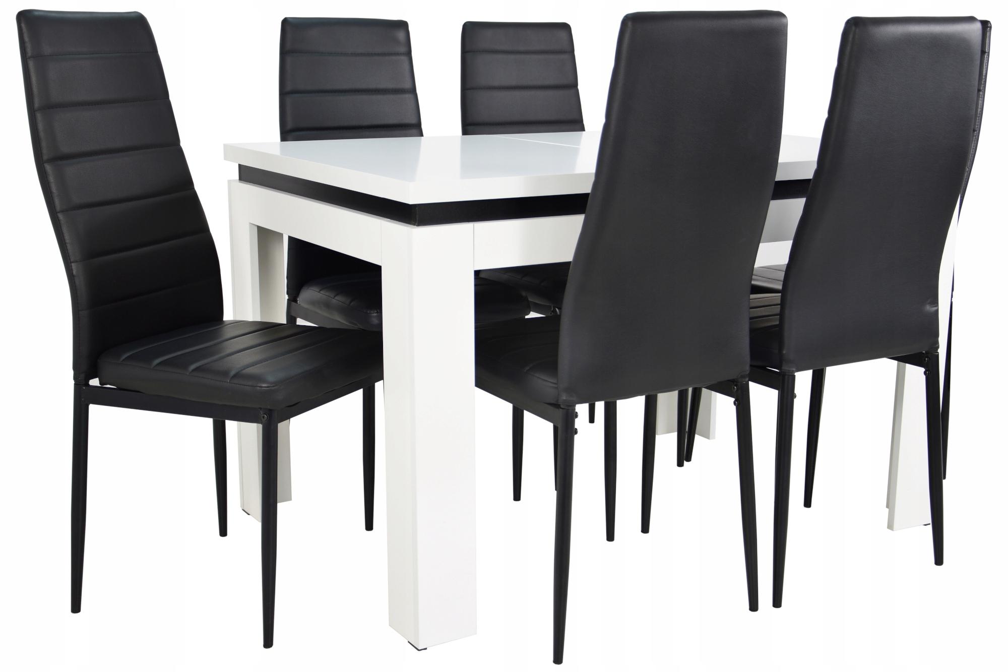 6 krzeseł i solidny stół rozkładany do JADALNI