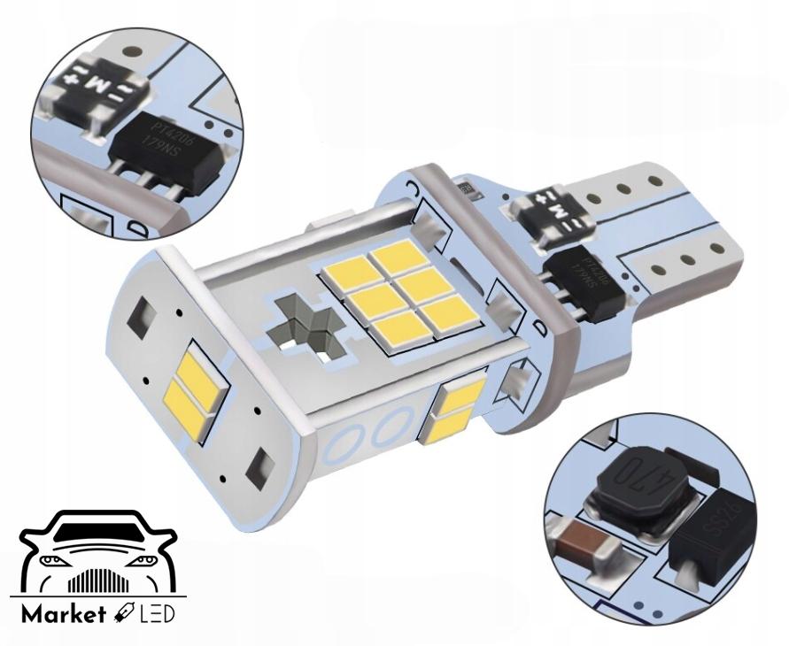 Żarówki LED - Światła Wsteczne W16W/T10 - CanBus Numer katalogowy części 25