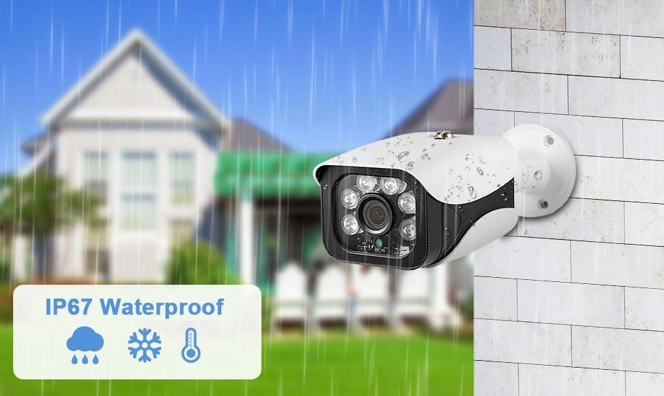 Kamera 8MP 4K IP zewnętrzna kamera H.265 Onvif Poe Technologia IP