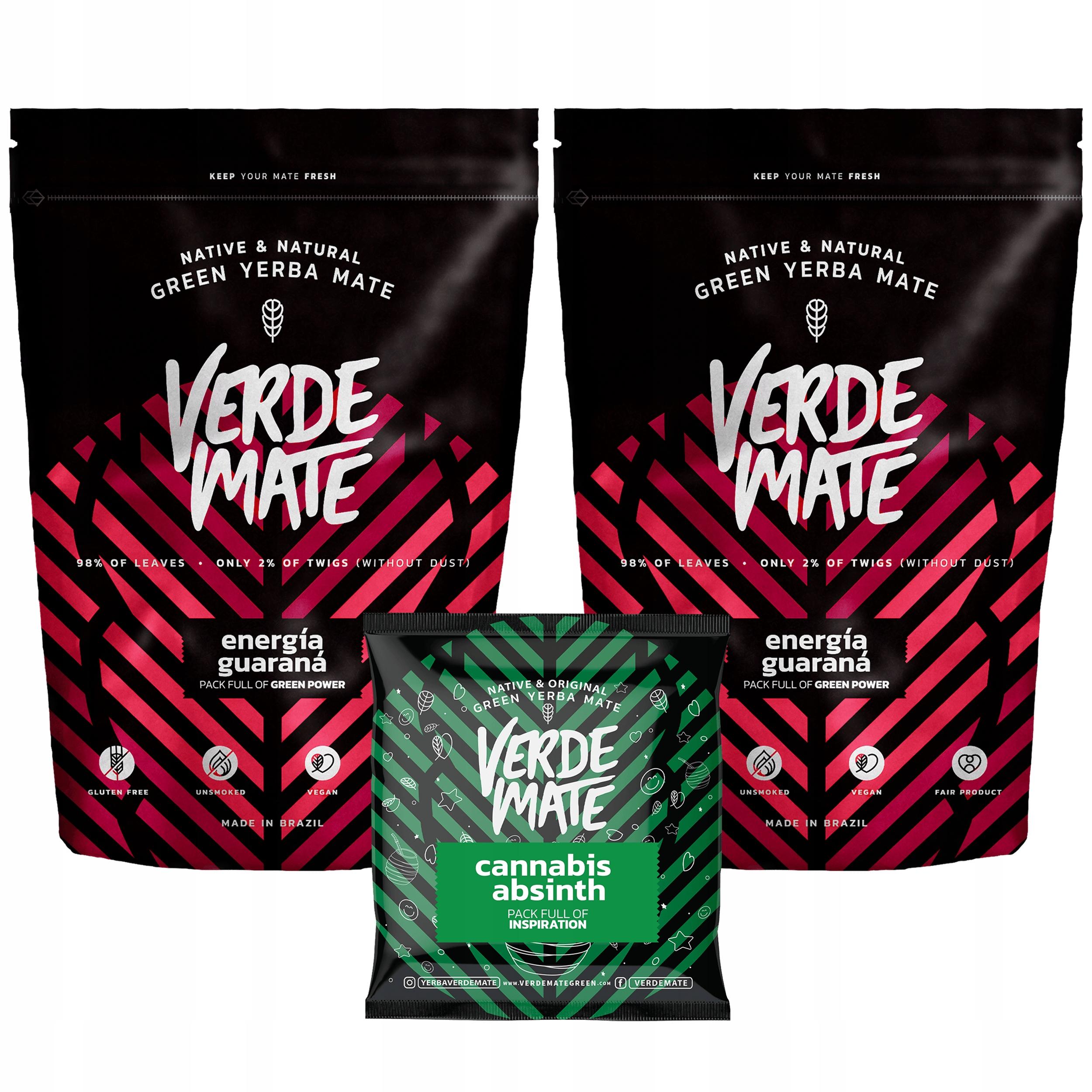 Yerba Verde Mate Green ENERGY GUARANA 1kg БЕСПЛАТНО