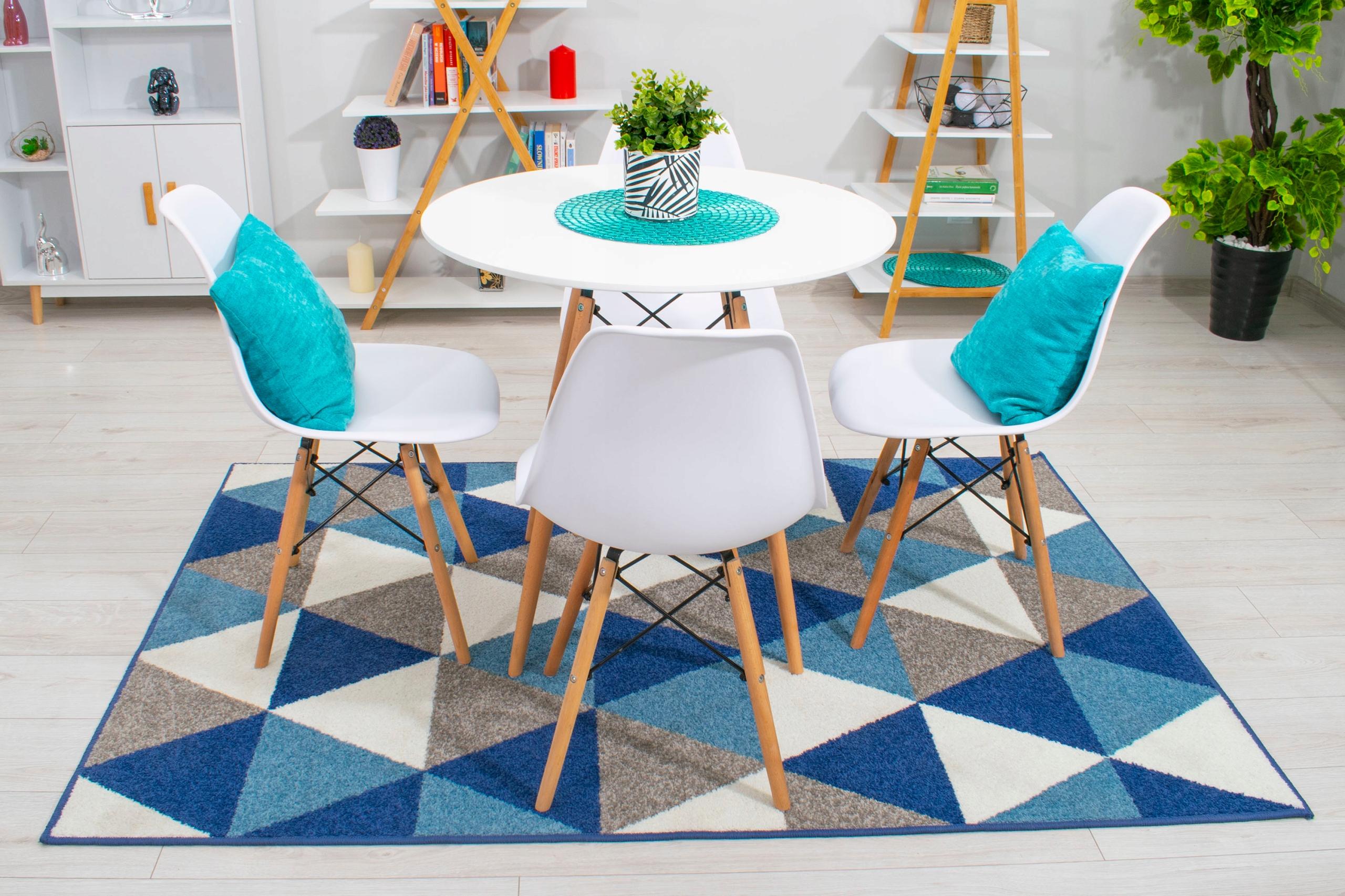 Stół + 4 Krzesła Nowoczesny Skandynawski Styl DSW Szerokość stołu 80 cm