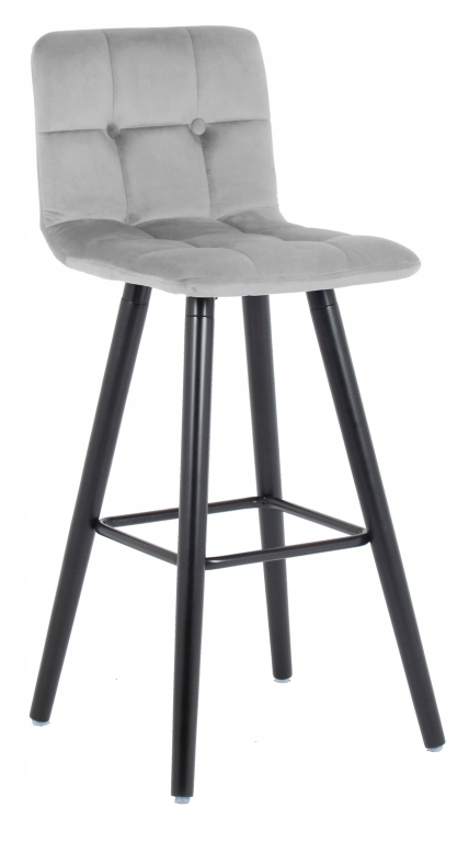 Барный стул, бархатный серый бархат Vera 2
