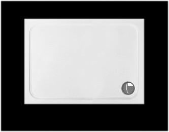 Plochá sprchová vanička 90x80 ULTRA 3 cm so sifónom