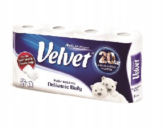 Туалетная бумага Velvet 3 слоя Прочный 8шт.