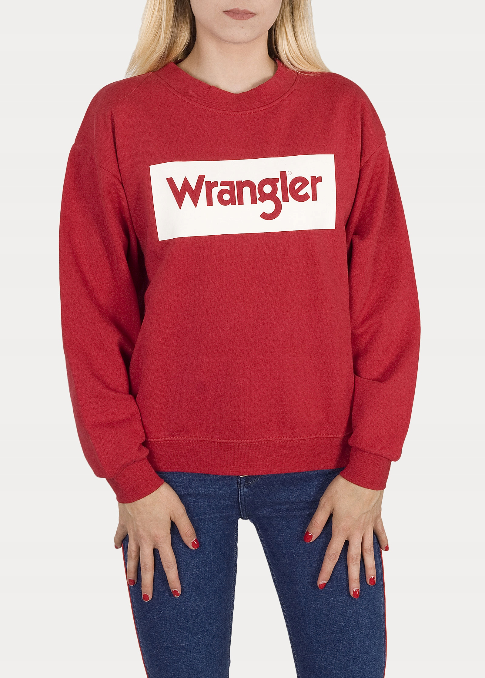 Retro sveter Wrangler 80´S - červený