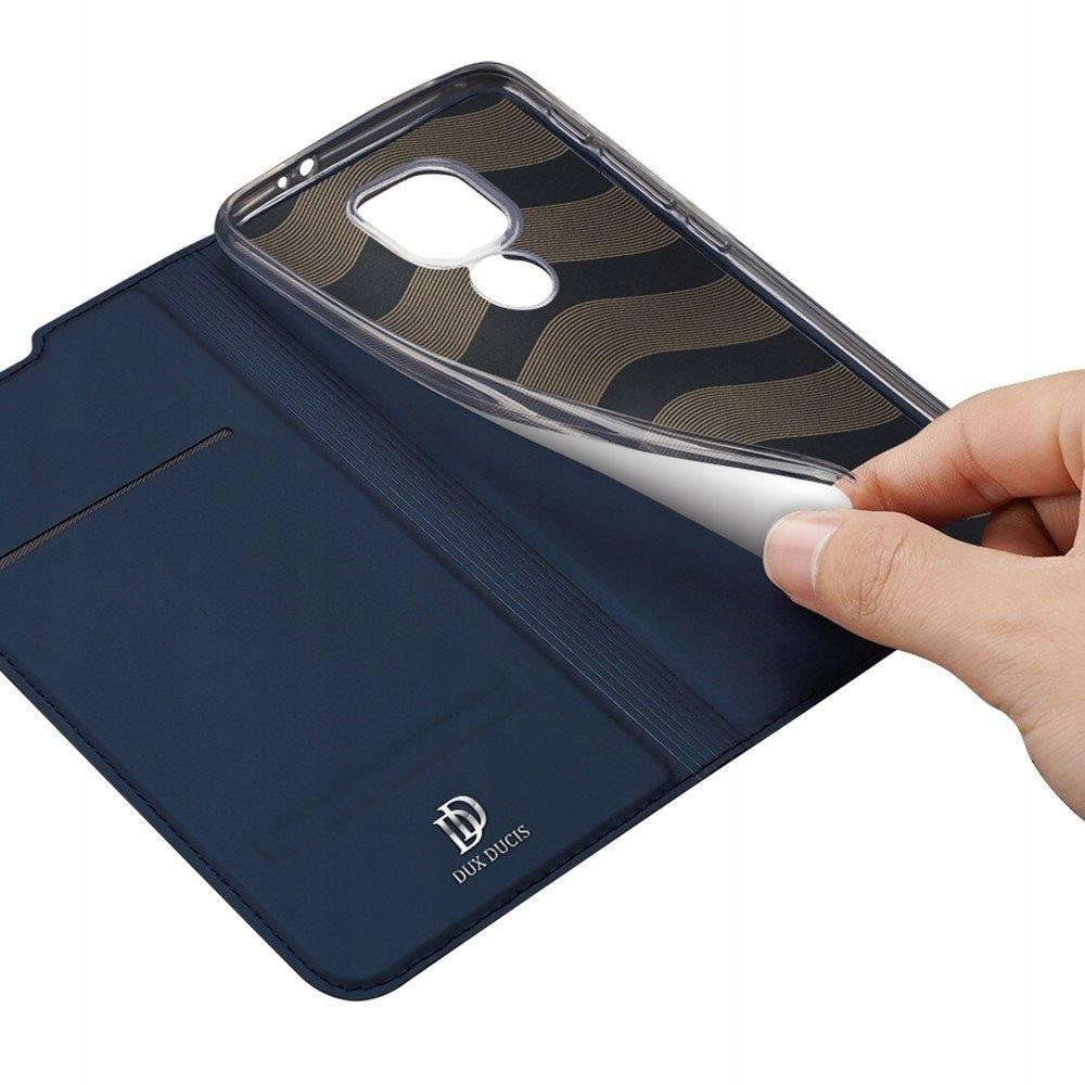 Etui z klapką+ szkło do Motorola G9 Play / E7 Plus Kolor granatowy