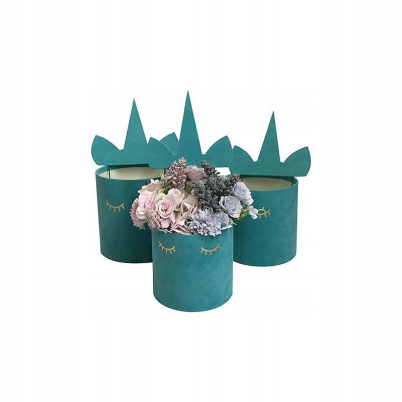 Flower box na kwiaty Jednorożec unicorn L Welur