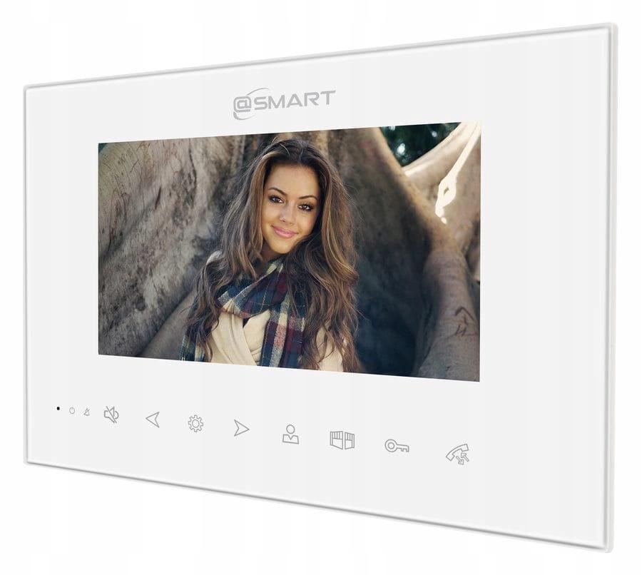 Wideodomofon IP Smart Dwa monitory WIFI BRELOK KOD Informacje dodatkowe Czytnik kart zbliżeniowych Interkom Sterowanie napędem bramy Sterowanie oświetleniem