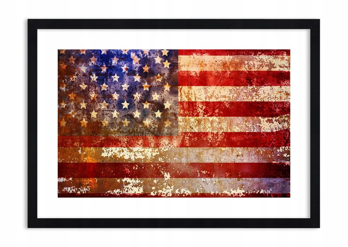Obrázok v ramene Vlajku USA Vintage F1BAA70x50-3084
