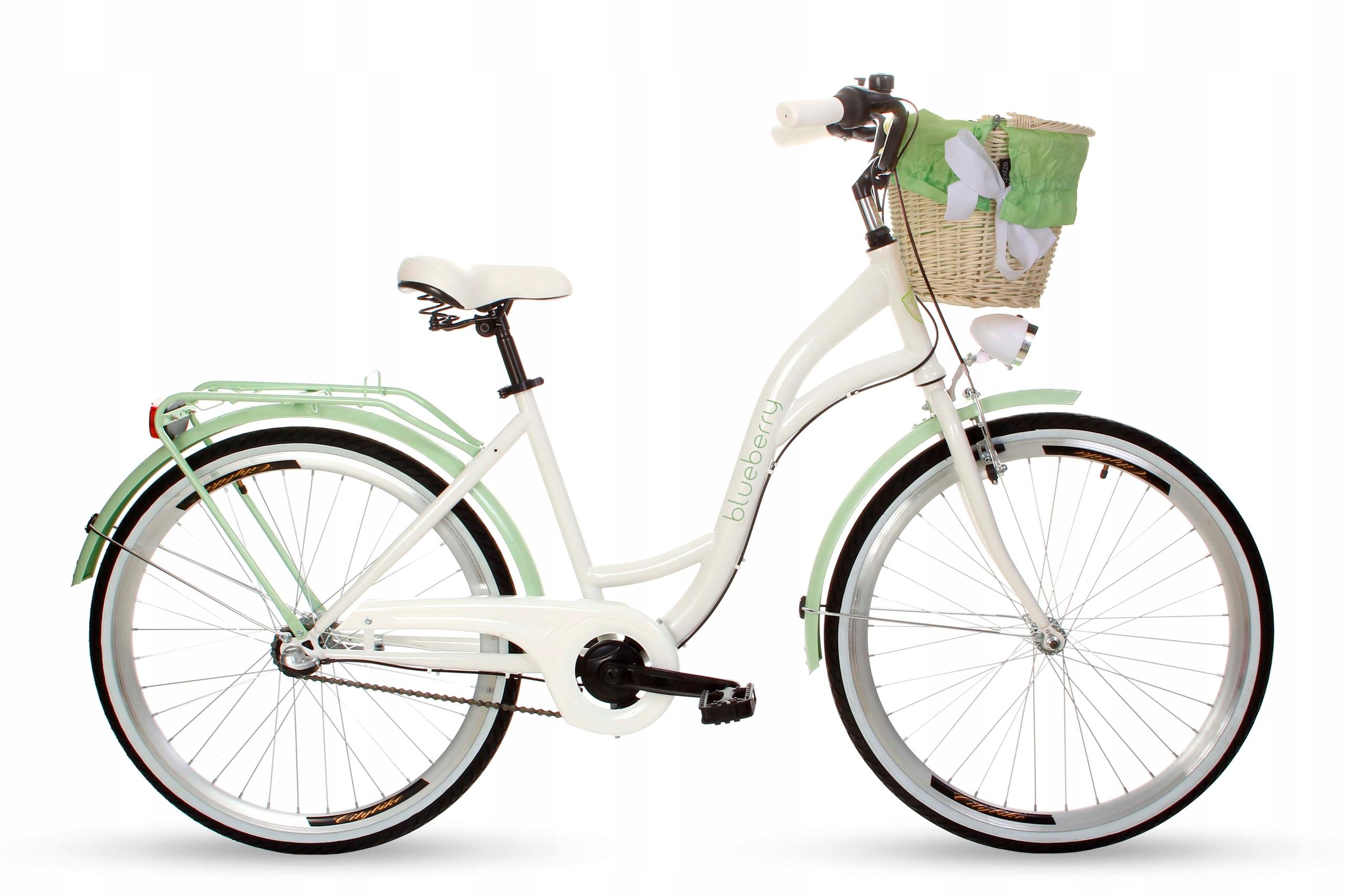 "Dámsky mestský bicykel Goetze BLUEBERRY 26 3b košík!  Veľkosť kolies ("") 26"