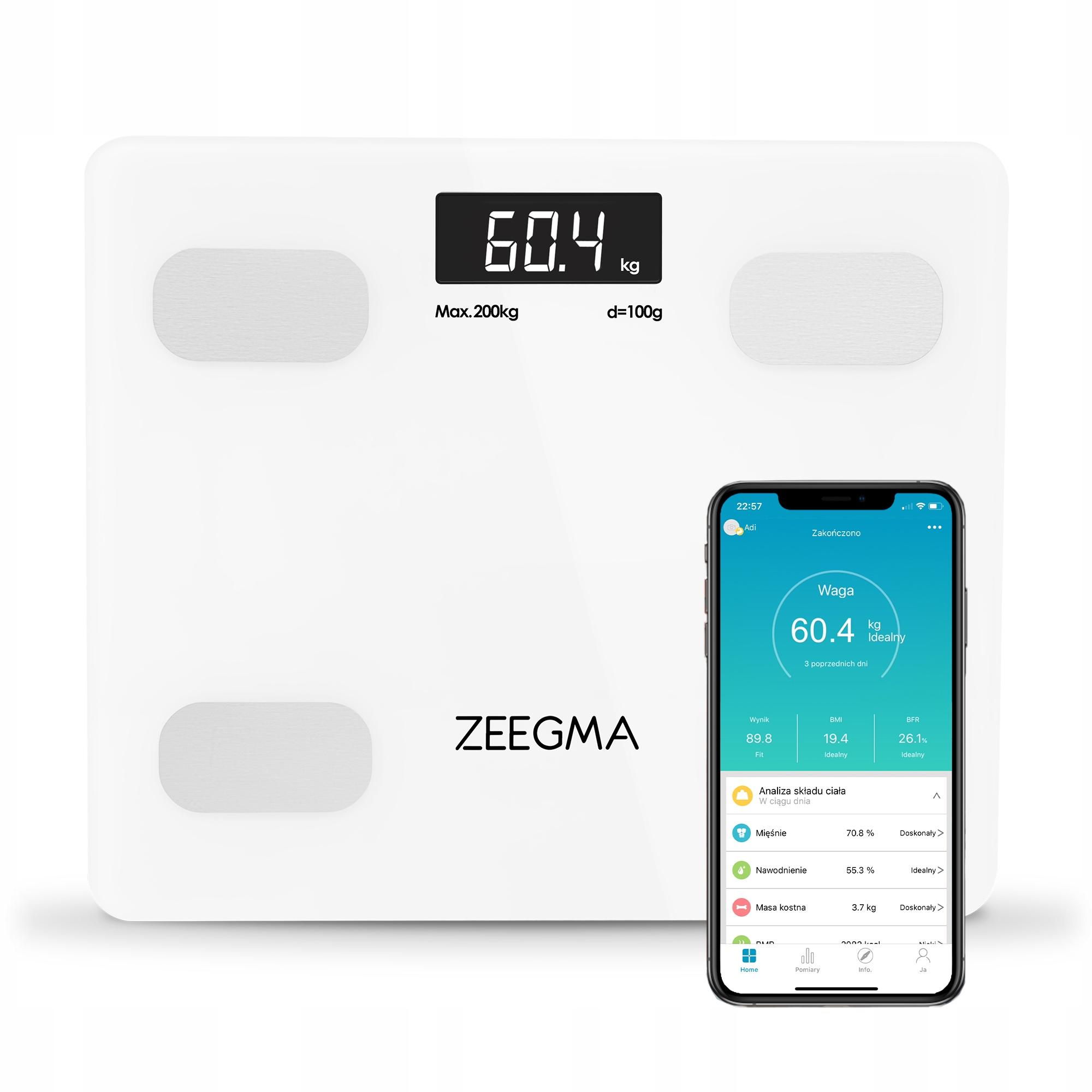 ZEEGMA Gewit 17in1 аналитические весы для ванной комнаты