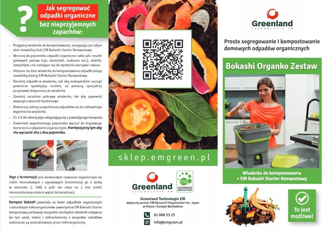 Bokashi organko zestaw czarny do kompostowania Producent greenland