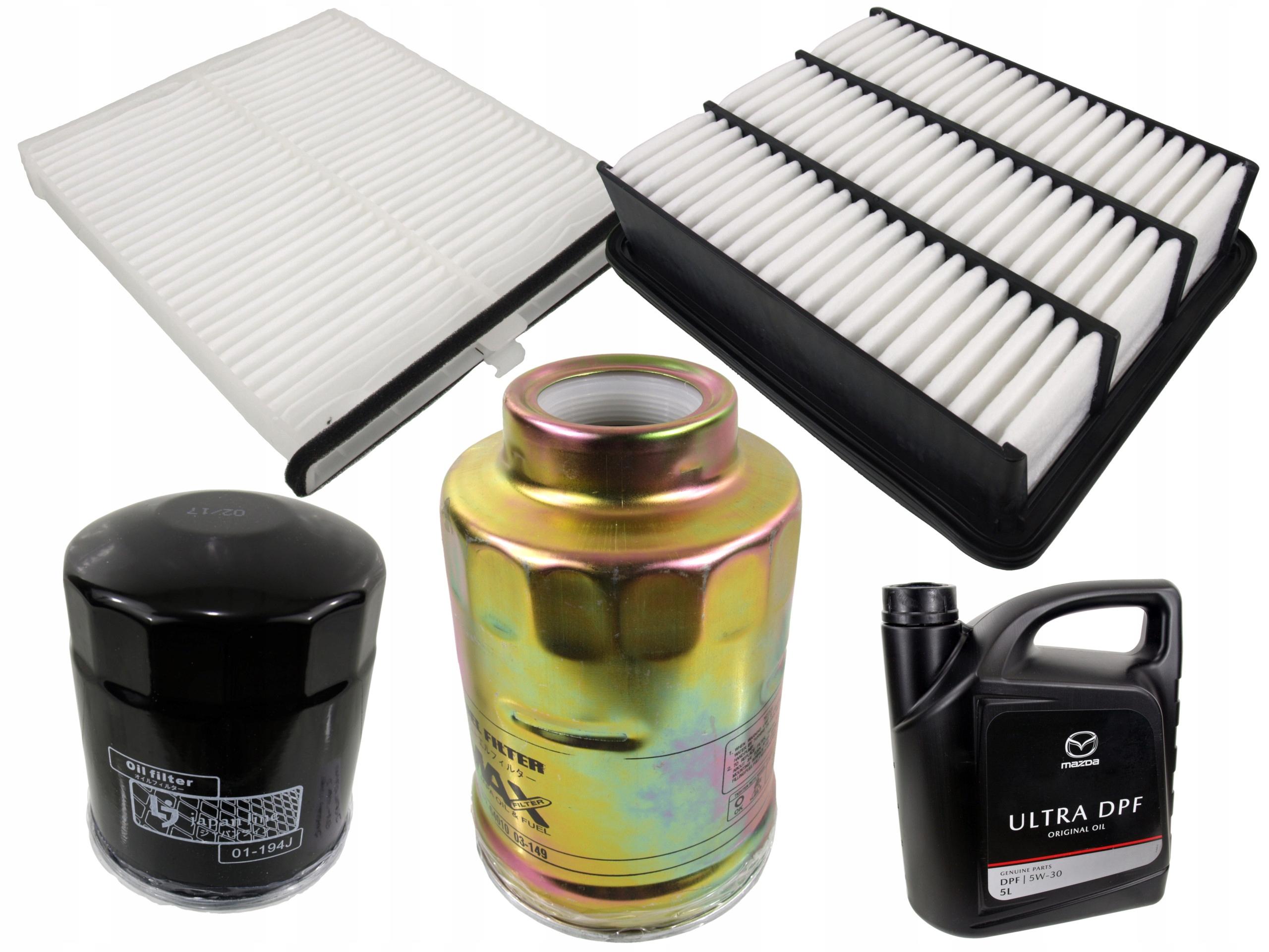 комплект комплект фильтры mazda cx-5 ек kf gh o 5w-30