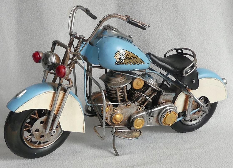 Kovové retro vozidlo MOTOR INDIAN 40,5 cm