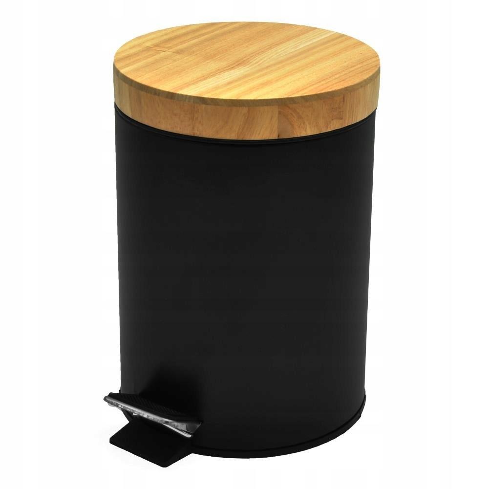 BLACK 3L kovový odpadkový kôš s pedálom