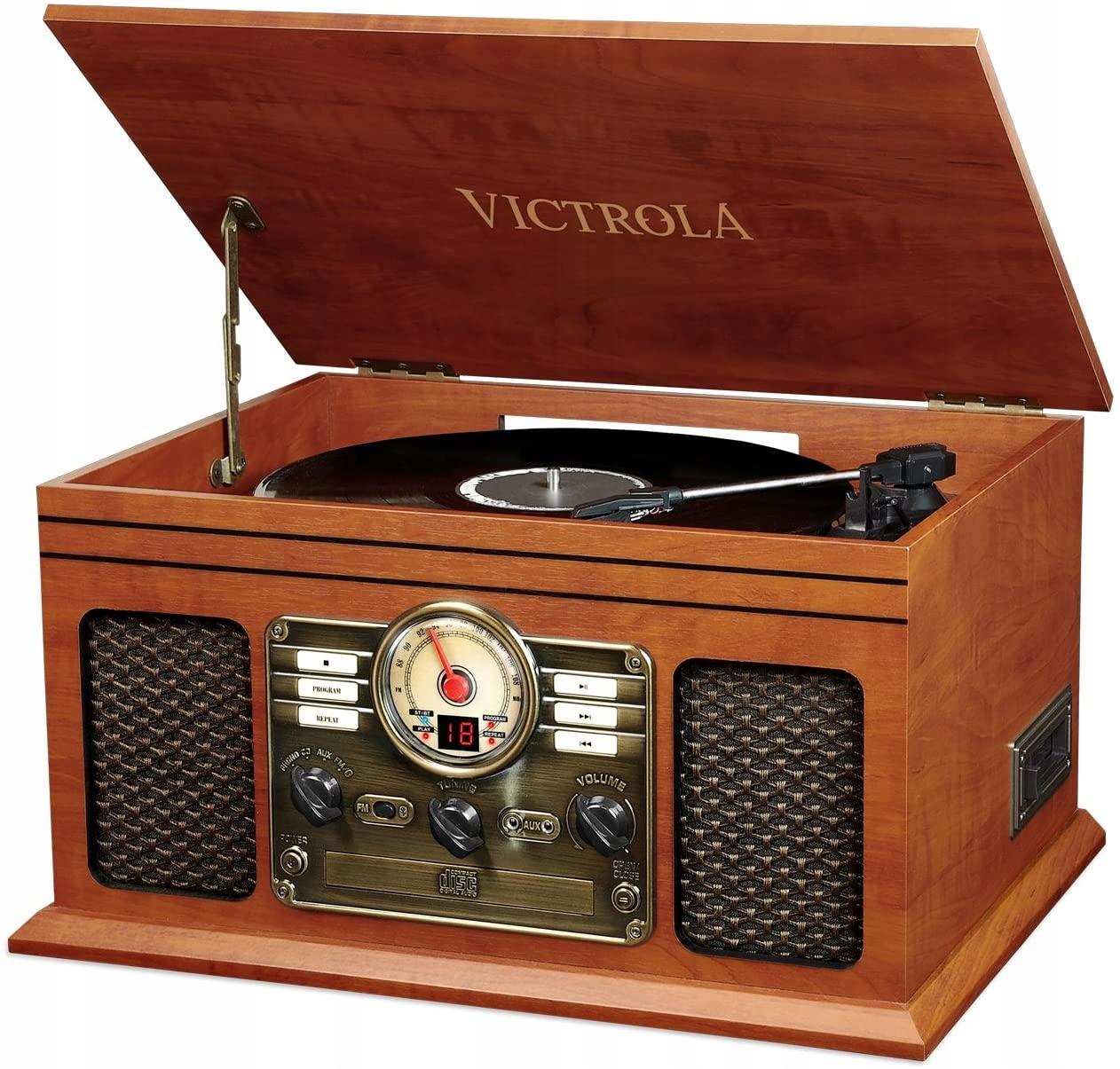 Gramofón Victrola VTA-200B-MAH System Retro 6v1