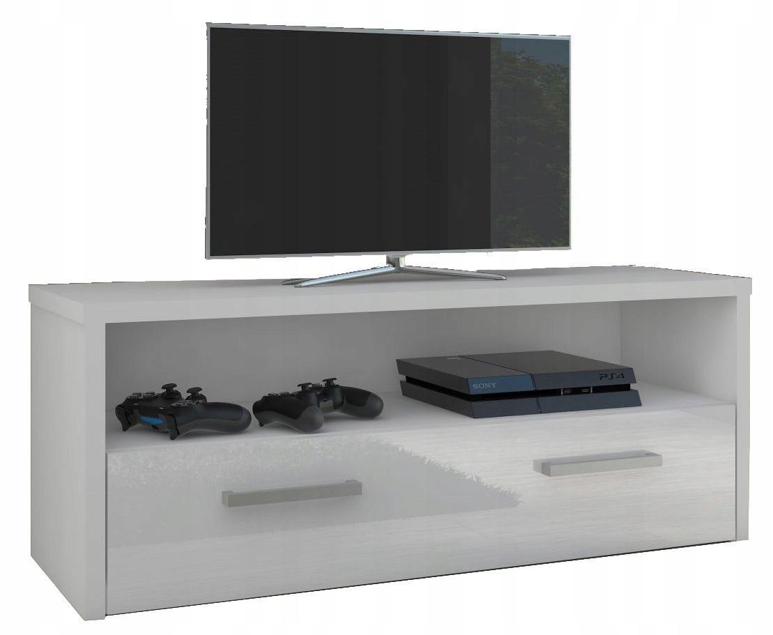 Szafka RTV klasyczna 2 szuflady półka biała m/poł.