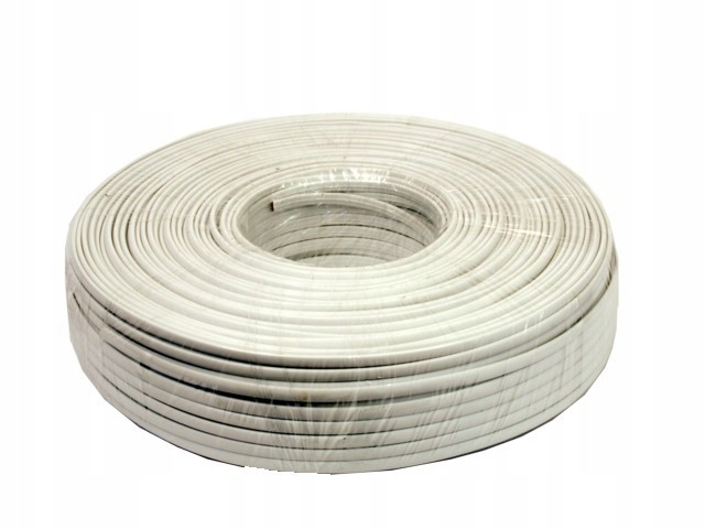 Купить Телефонный кабель 4zyły белый 100м рулон трос на Otpravka - цены и фото - доставка из Польши и стран Европы в Украину.