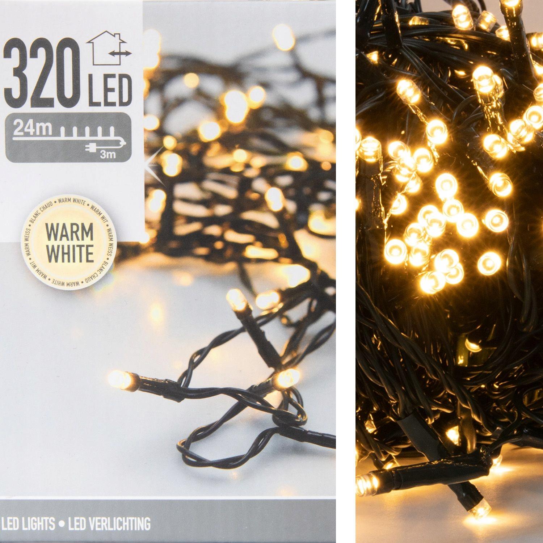 Osvetlenie vianočného stromčeka 320 LED teplé biele zvonku