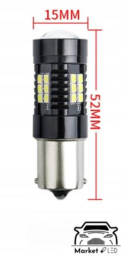 Kierunkowskaz LED Py21W Bau15s P21W - Pomarańcz Rodzaj LED
