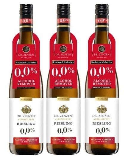 Wino Niemieckie Zenzen Riesling 0% zestaw 3 win