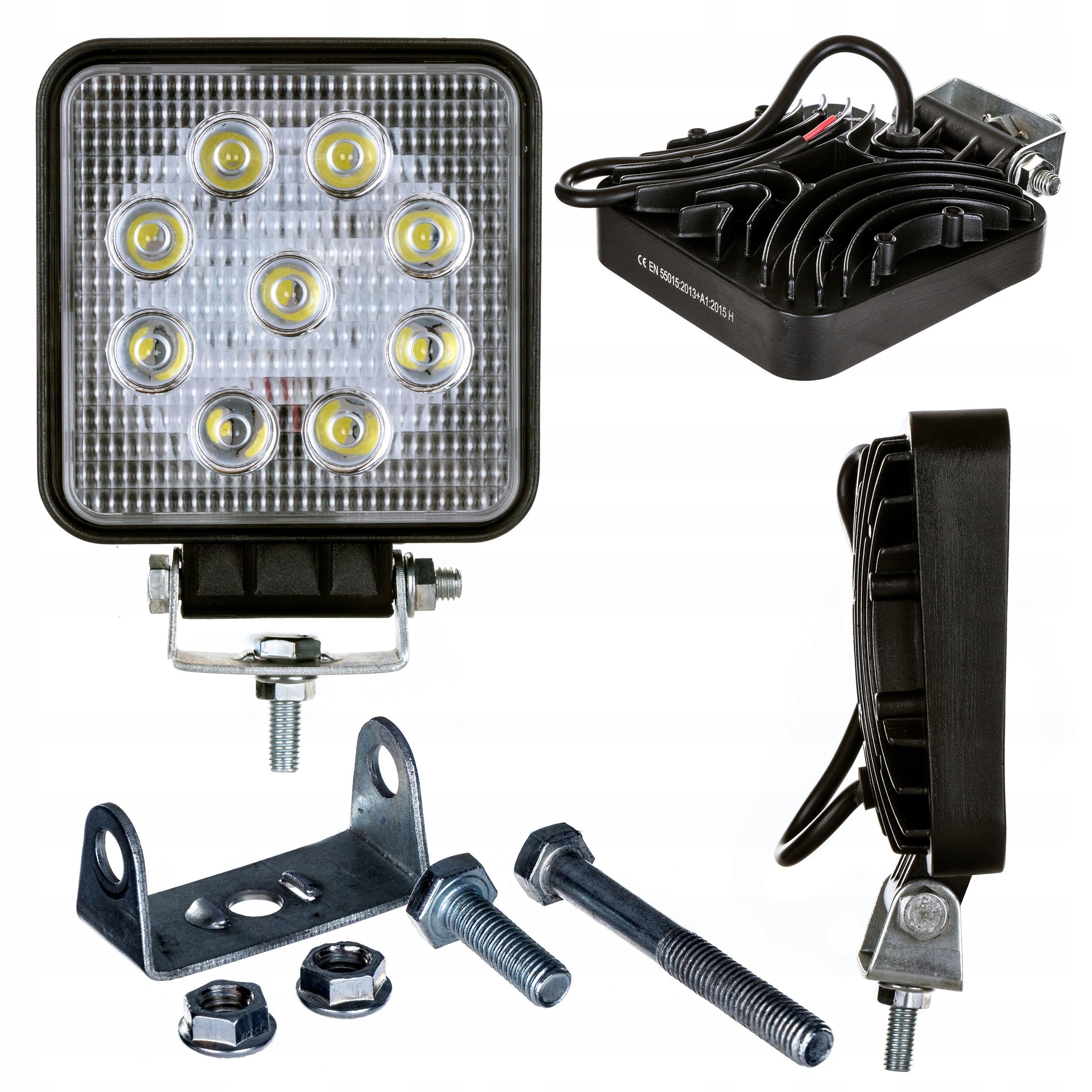 LAMPA ROBOCZA HALOGEN LED 27W 9x3W 12V 24V